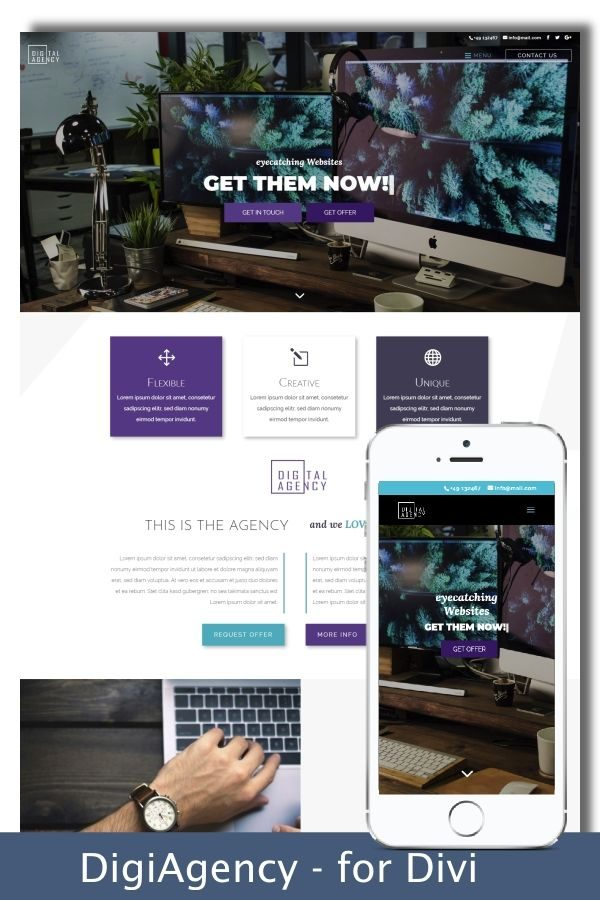 Divi Agency Child Theme Design Preview