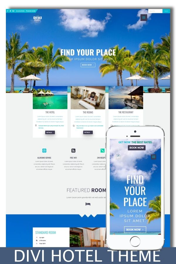 Divi Hotel Divi Child Theme Design Preview