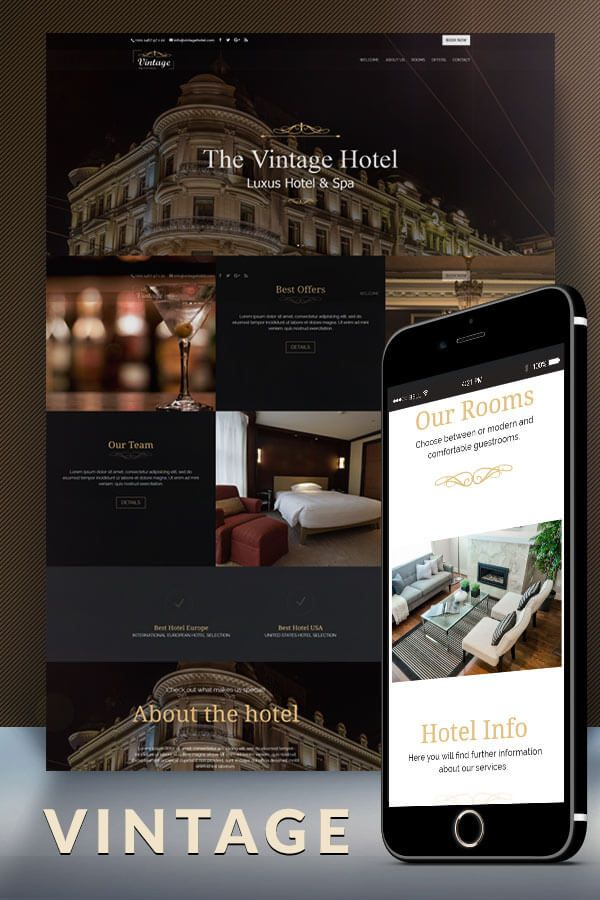 The Vintage Hotel Divi Child Theme Design Preview