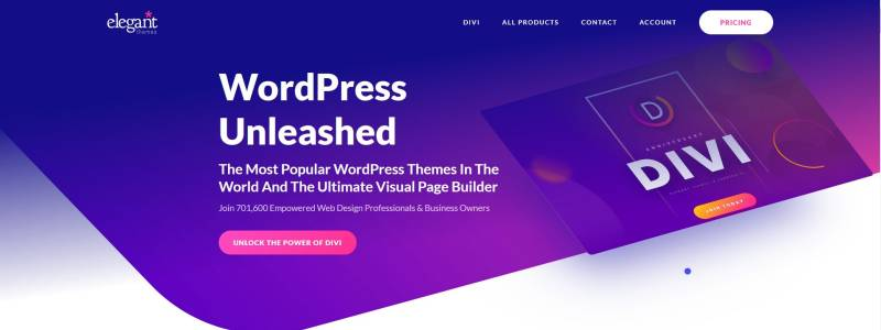 Divi Themes One Page Websites Full Overview and Insights WordPress Divi Theme Header