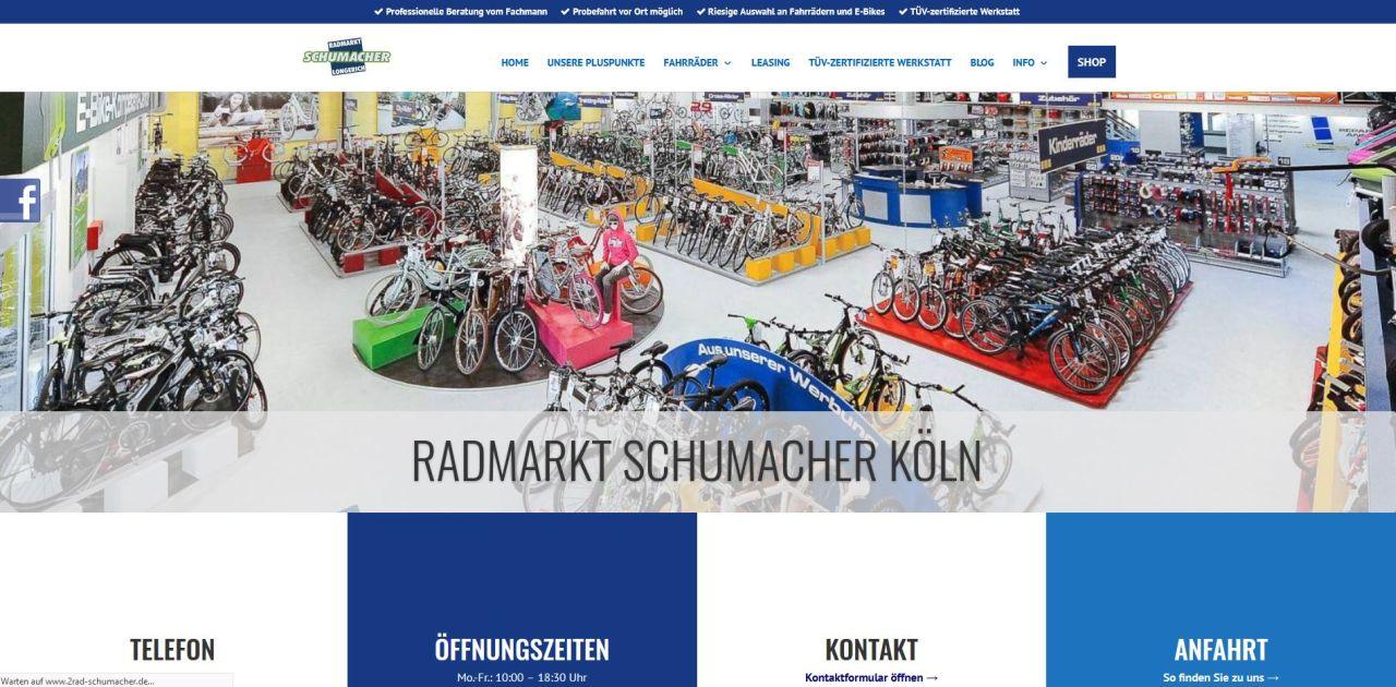 Website Radmarkt Schumacher Divi Design Preview