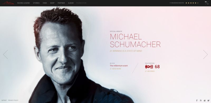 WordPress Website Michael Schumacher