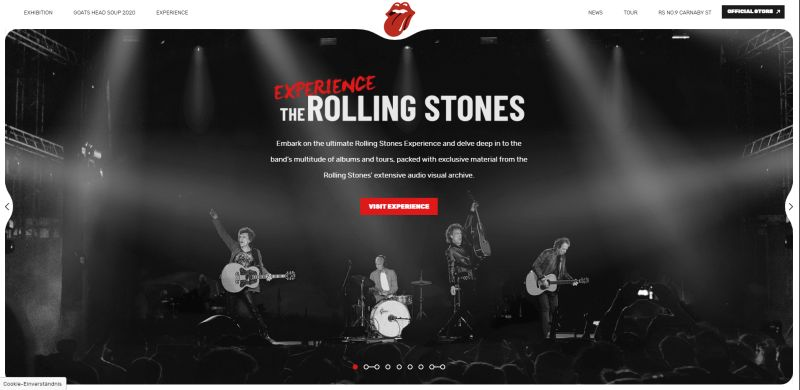 WordPress Website Rolling Stones