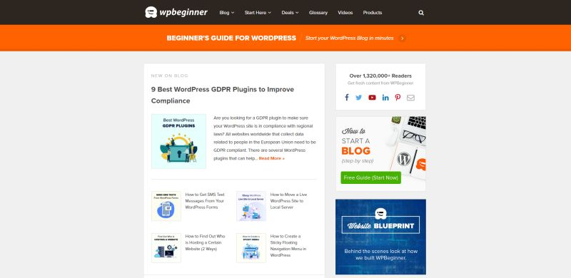 WordPress Website WP Beginner